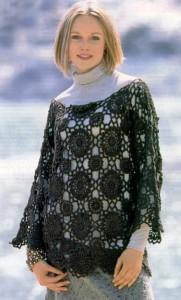 вязание пуловер крючком