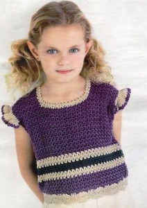 вязание топа для девочки