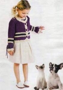 вязание кофточки для девочки
