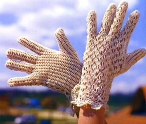 перчатки крючком