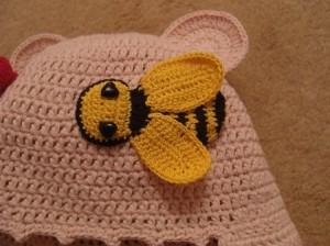 вязание апликаций пчелка