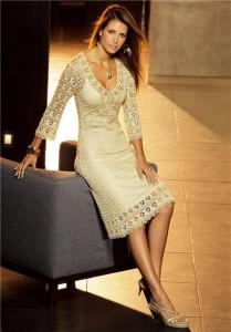 платье вязаное крюком