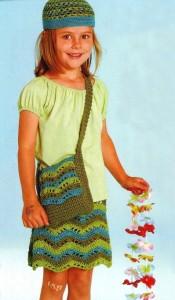 сумка, шапочка, юбка крючком