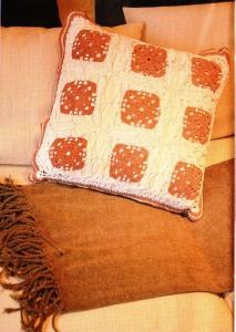 вязаные наволочки на подушки