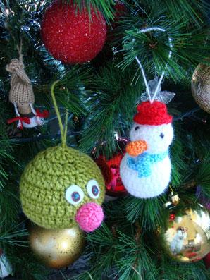 вязание новогодних игрушек вязание крючком бесплатная схема фото