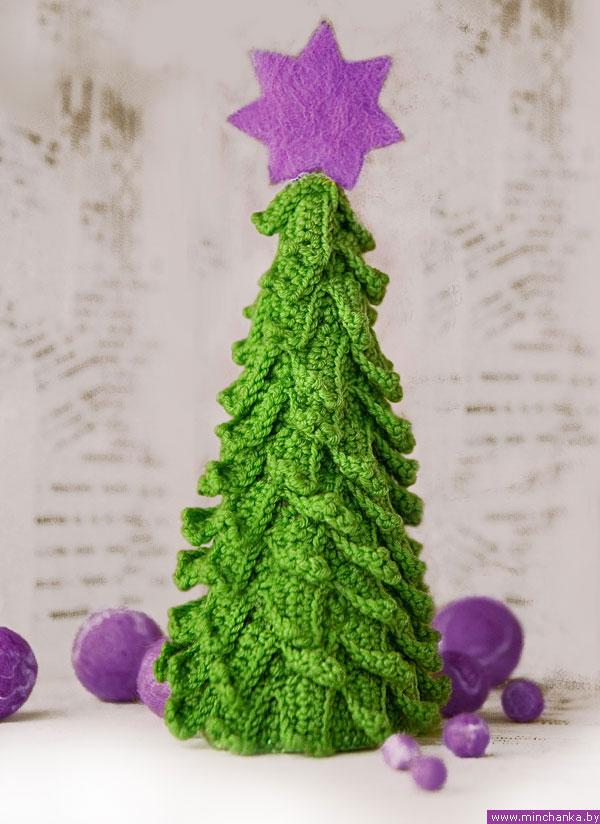 вязаная новогодняя елочка мастер класс вязание крючком
