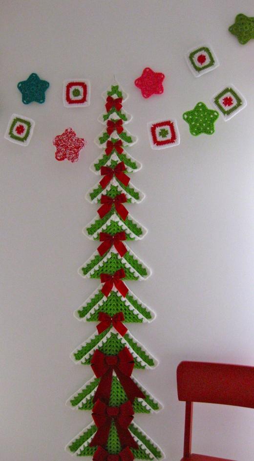вязаная елка вязание крючком бесплатная схема фото Kruchcomru