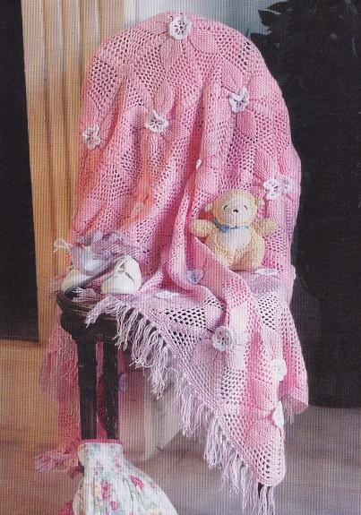 вязаное покрывало для малыша 140x160 см вязание крючком