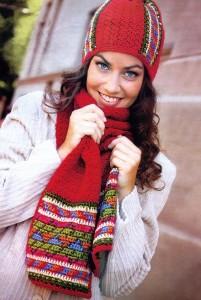 вязаная шапка и шарф крючком