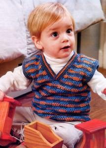 вязаный жилет крючком для малыша