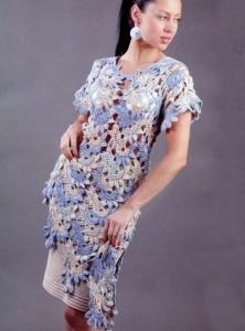 ажурная туника и юбка крючком
