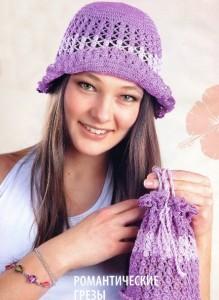 шляпка и сумочка крючком