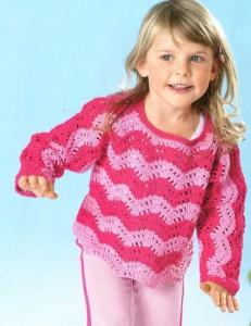 пуловер на лето для девочки