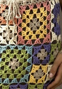 юбка из квадратов