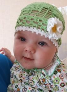 шапочка на малыша крючком