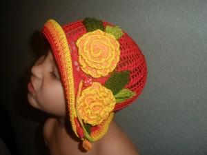 вязаная панамка для девочки