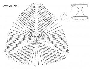 схема вязаного купальника
