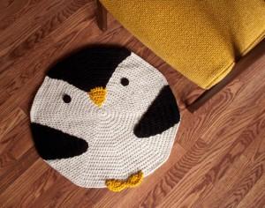 вязаный коврик для детей