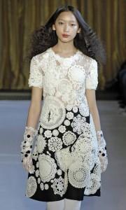 вязание и ткань платье