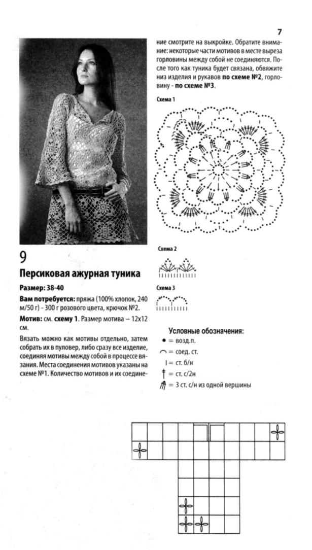 39f2bf4b607 Туника из мотивов персикового цвета