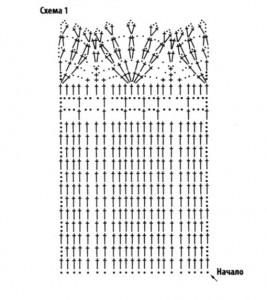 схема вязания юбки