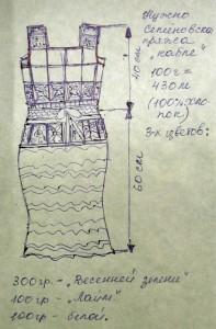 схема вязаного платья
