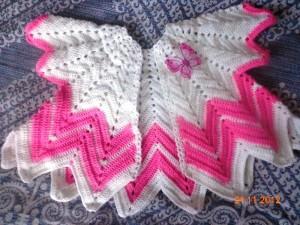 вязаное болеро для девочки крючком