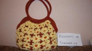 вязаная сумка крючком из цветочных мотивов