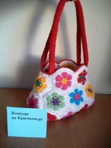 сумочка из африканского мотива