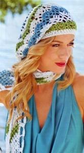 шарф и шапочка крючком