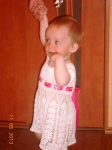 платье для девочки на 1 годик