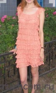 ажурное платье на лето крючком