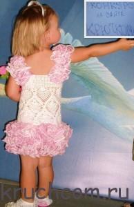 Вязаный сарафан для девочки крючком схемы