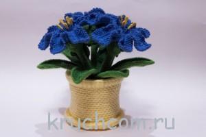 вязаные цветы крючком с описанием