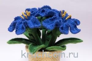 цветы крючком лилии