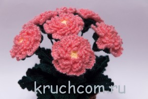 вяжем цветы крючком