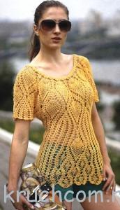 вязаный пуловер с ананасами