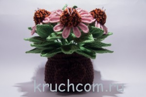 красивые цветы крючком