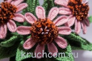 цветы крючком описание
