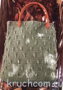 вязаная сумка с шишечками