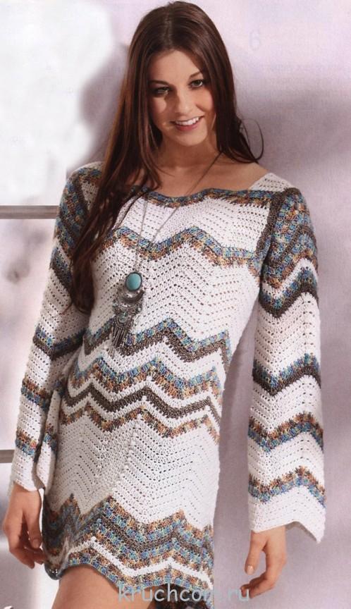 вязание платьев для женщин схемы