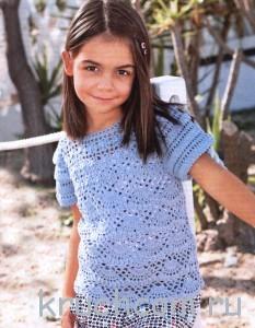 пуловер для девочки крючком
