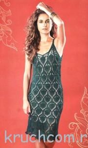 вязаное платье крючком со схемами