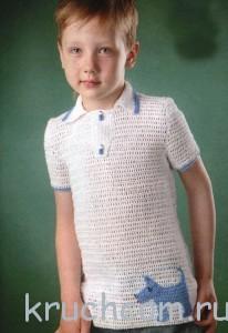 вязаня уловер на мальчика крючком