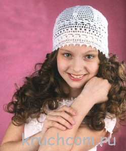 вязана шапочка для девочки крючком