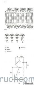 схема вязания повязки крючком
