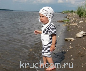 шапочка крючком на лето
