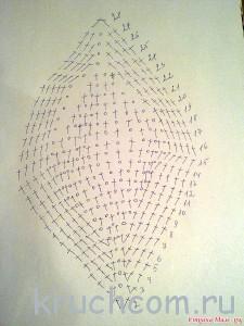 схема вязания клиньев