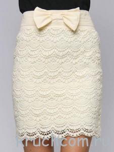 вязаня юбка крючком