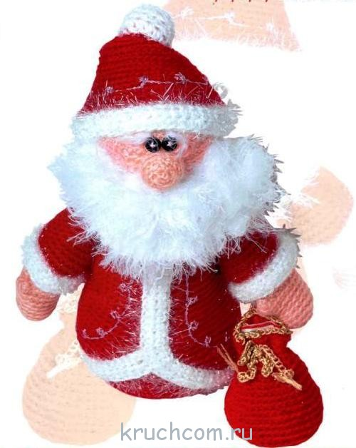 Вязаный Дед Мороз с описанием | Вязание крючком ...